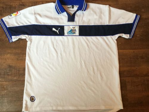 1999 2000 CD Tenerife Home Football Shirt Adults Large